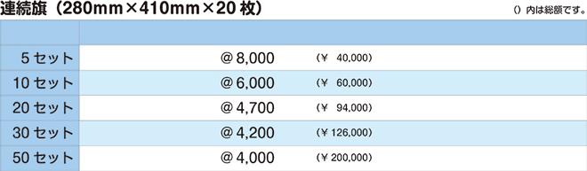 連続旗|価格表