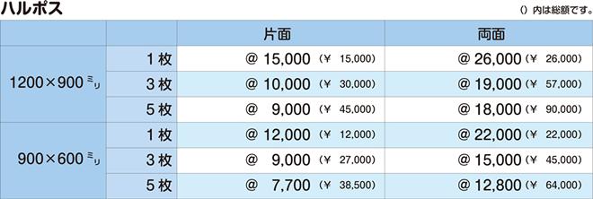 ハルポス|価格表